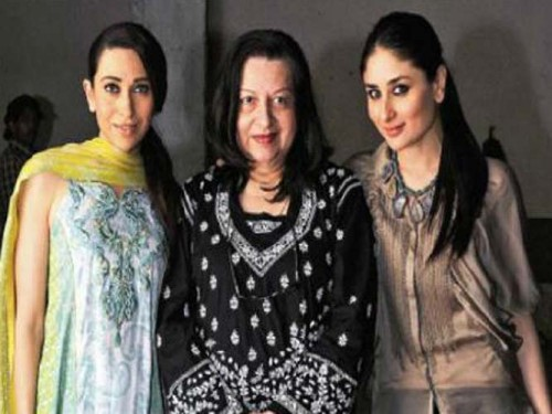 Babita with Karisma and Kareena Single Mom of Bollywood