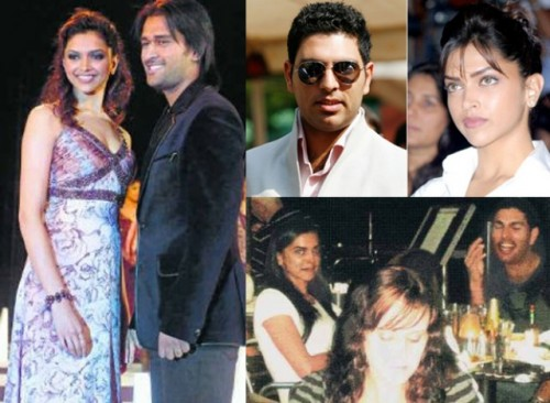 Deepika Padukone and MS Dhoni and Yuvraj Singh - Bollywood Actresses and their Cricketer Link Ups